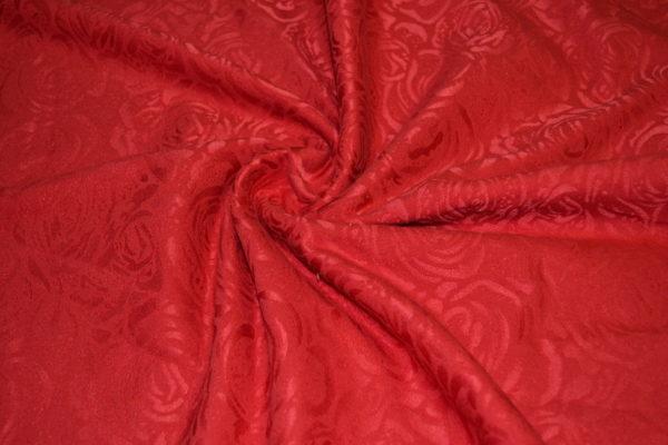 Жаккард в розы (красный)