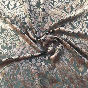 Панбархат в цветы (коричневый)