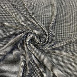 Бархат на шёлке в мелкий ромбик (бело-чёрный)