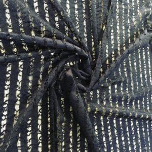 Гипюр, вышивка, кружево Dsquared (синий)