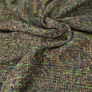 """Ткань костюмная """"Chanel"""" зелёная"""