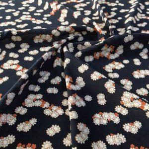 Вискоза в цветочек (синяя)
