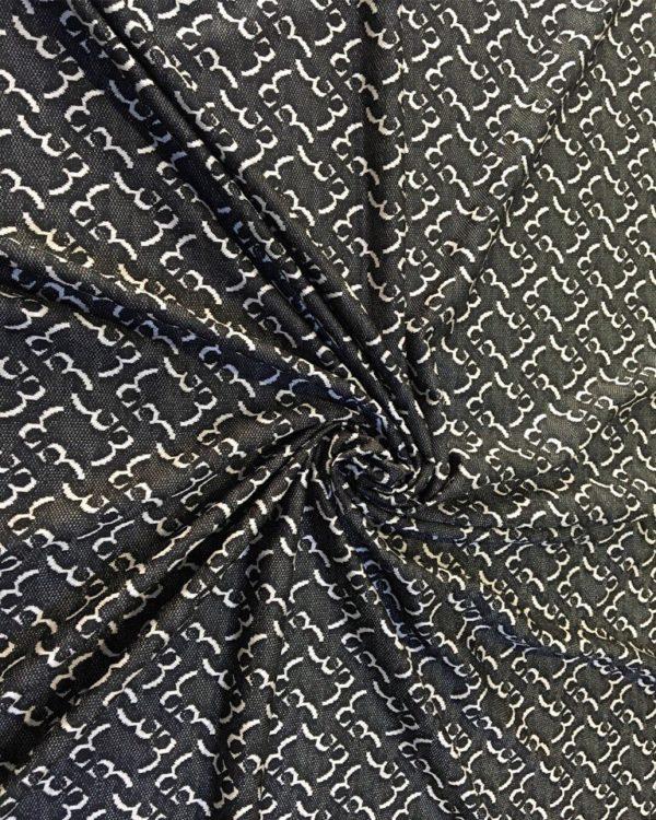 Вискоза с шёлком трикотаж серо белый