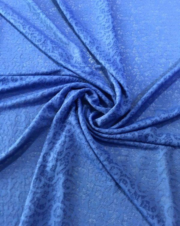 Вискоза Dsquared трикотаж в синие цветы