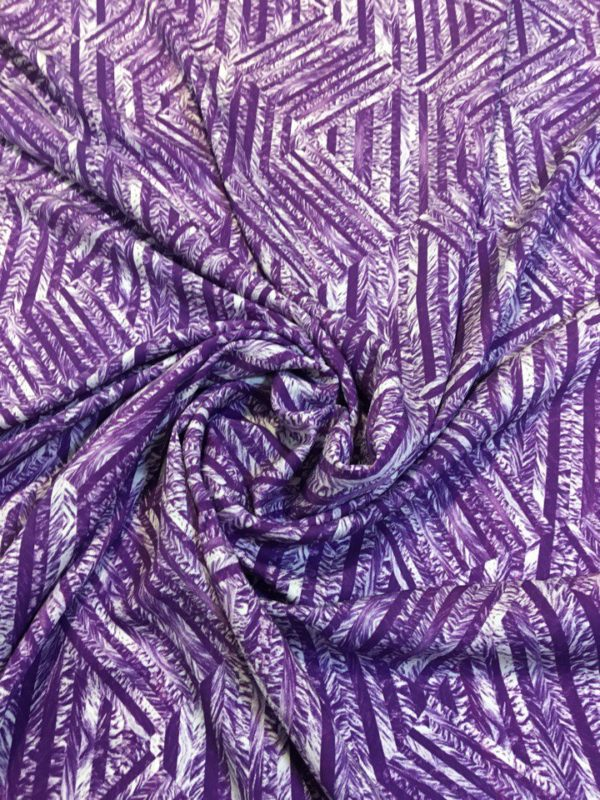 Вискоза в зигзаг YSL (фиолетовый)