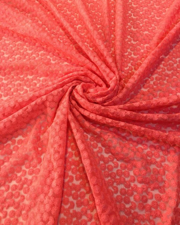 Вышивка, кружево Dsquared (коралловый)