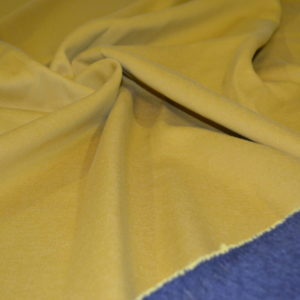 Трикотаж Джерси double face жёлто-серый