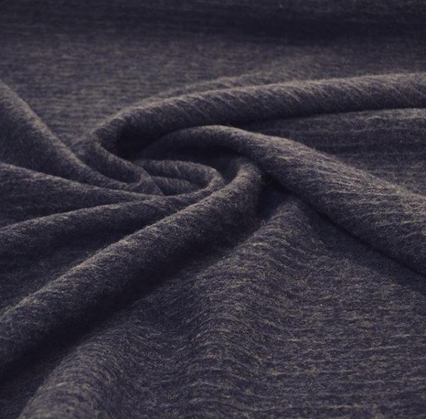 Вареная шерсть Loro Piana (синяя в полоску)