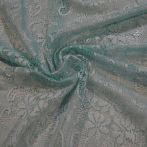 Гипюр цветы (голубой)