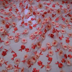 Вышивка на сетке MSGM (розовая)