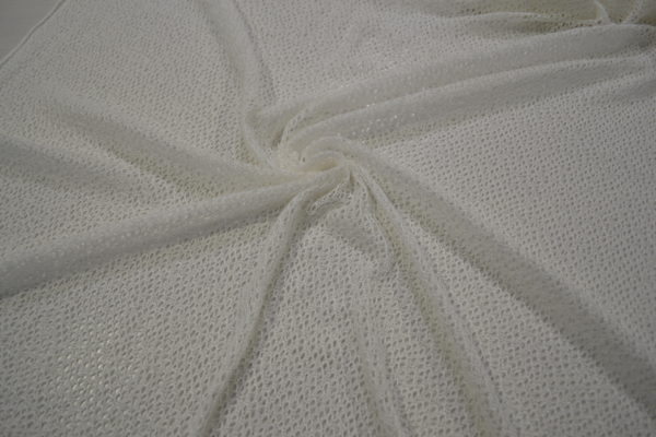 Трикотаж сетчатый паутинка (белая)