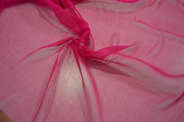Шелк шифон (розовый)