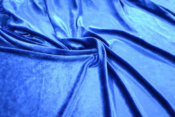 Бархат вискозный (синий)