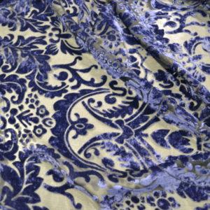 Панбархат в цветы (синий)