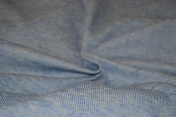 Трикотажное полотно хлопок акрил (голубой меланж)