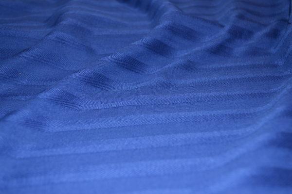 Трикотаж DSQUARED в полоску елочку (синий)