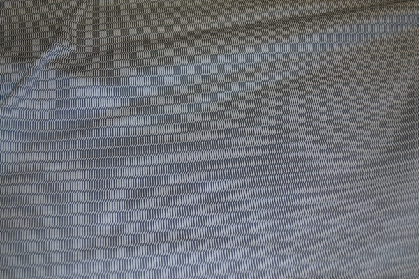 Трикотаж хлопок с шёлком Bottega Veneta (бело-серый)