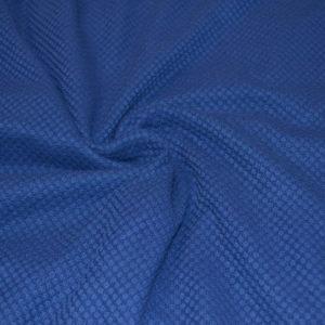 Трикотаж синий, выпуклый ромбик