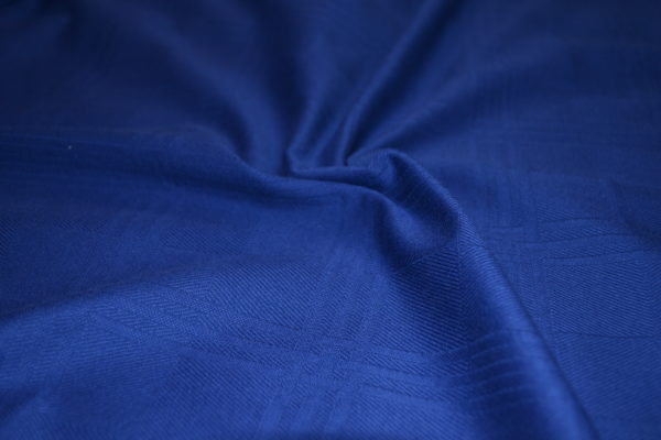 Трикотаж хлопок в квадраты (синий)