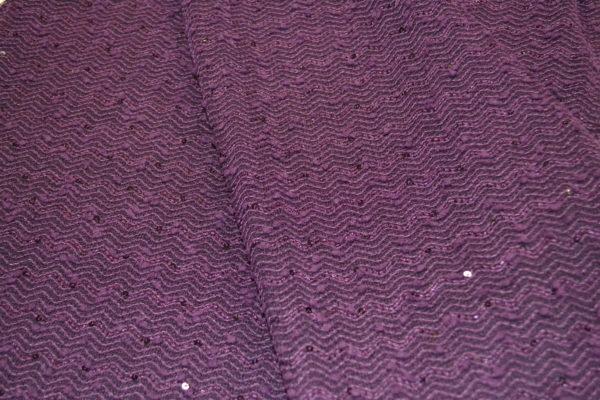 Трикотажное полотно с пайеткой (фиолетовый)