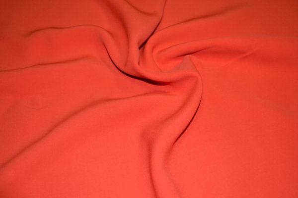 Плательная вискоза полиэстр (кораллового цвета)