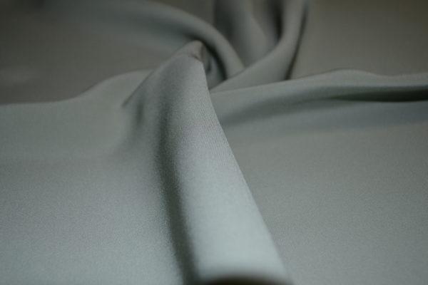 Плательная вискоза полиэстр CADY (темно-фисташковый цвет)