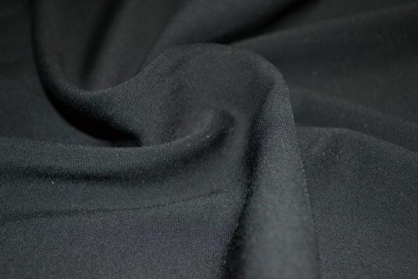 Костюмно-Плательная вискоза, эластан черная