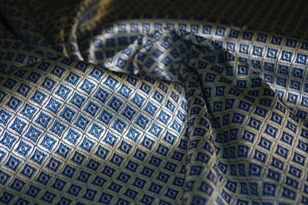 Жаккард VERSACE (серебристо-синий)
