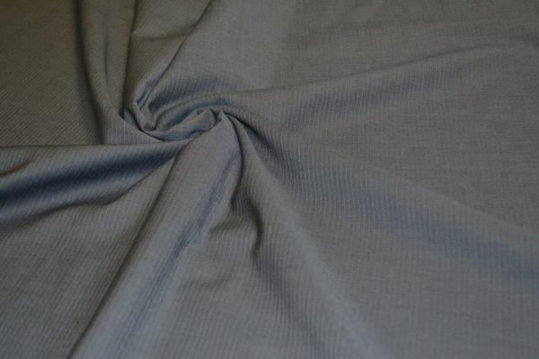 Шерсть костюмная с эластаном (коричневато-серая в мелкую полоску)