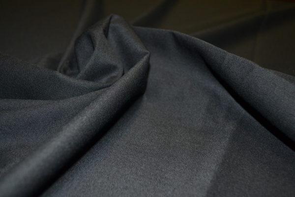 Шерсть костюмная с эластаном черная