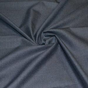 Шерсть костюмная Guabello (темно-синяя в мелкую клетку)