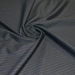 Костюмная шерсть черная в полоску