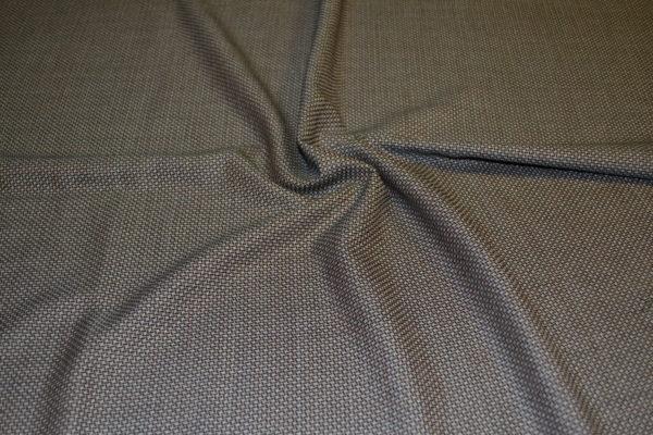 Шерсть костюмная с шелком (гусиная лапка коричневого цвета)