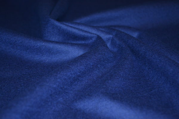 Шерсть костюмная фланель (синий электрик)