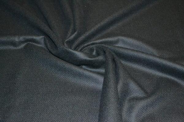 Костюмная шерсть рогожковое плетение (черная)