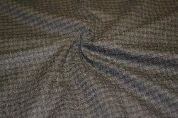 Шерсть LORO PIANA темно коричневый в клетку