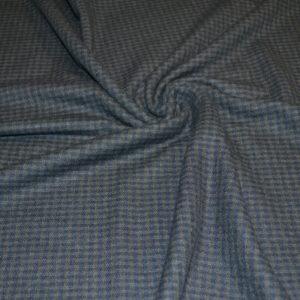 Шерсть с шелком LORO PIANA (синяя в клетку)