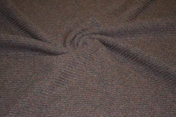 Шерсть кашемир коричневое бордо елочка диагональ