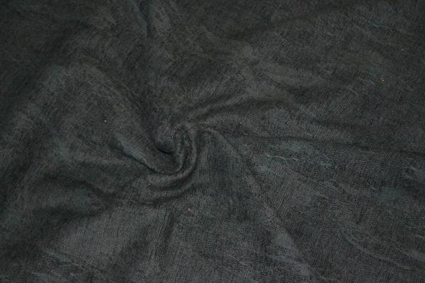Гобелен твидовый с узором (черный)