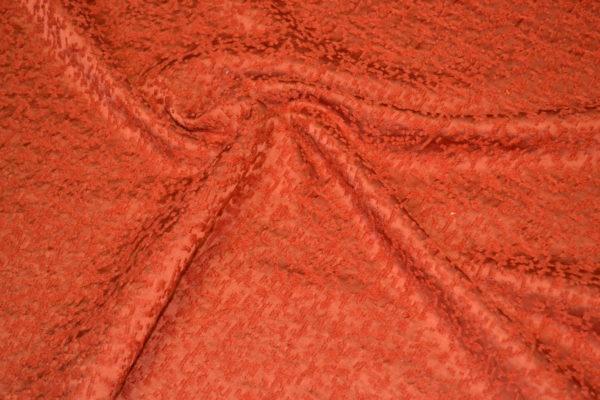 Жаккард шерстяной с шелком (оранжевый)