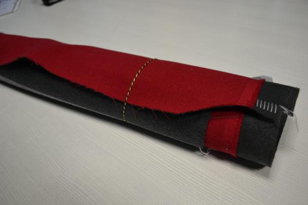 Шерсть костюмная красная (дублированная)
