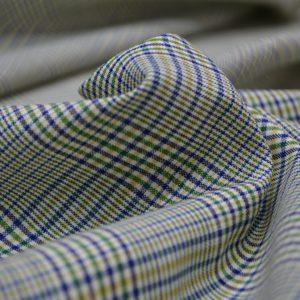 Шерсть костюмная в сине-желтую клетку Loro Piana
