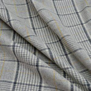 Джерси шерстяной с эластаном Armani (светло серый в клетку)
