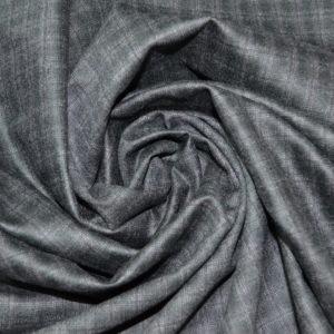 Шерсть костюмная с кашемиром Guabello (темно-серая в клетку)