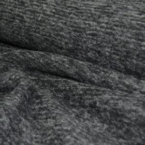 Трикотаж пальтовый MSGM (серо-черный меланж)