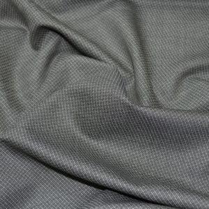 Шерсть костюмная Cerruti серая в мелкий геометрический рисунок